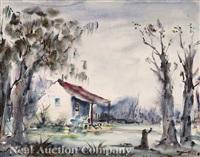 cabin on the bayou by nestor fruge