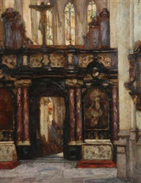 intérieur de l'église anversoise saint jacques by felix gogo
