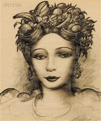 portrait of a woman by paul raphael meltsner