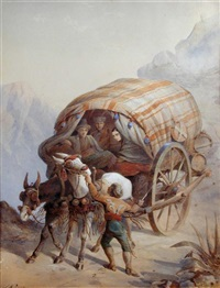 a mule cart in the alps by joseph austin benwell