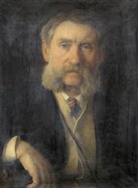 brustbildnis eines bärtigen herrn by wilhelm heinrich fussli