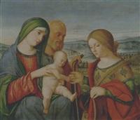 matrimonio mistico di santa caterina d'alessandria by francesco rizzo da santacroce