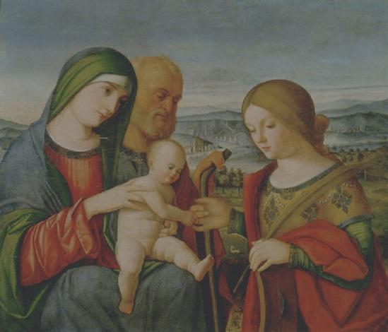 matrimonio mistico di santa caterina dalessandria by francesco rizzo da santacroce