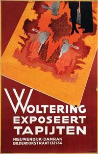 woltering exposeert tapijten by maurits aronson