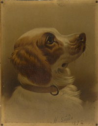 portrait of a spaniel by hermann gustave simon