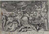 allegorie des alters/der nacht, pl. 4 ((from allegorie der lebensalter after ambrosius francken) by hieronymus wierix