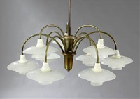 ph-cascade chandelier by poul henningsen