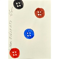 buttons and eightballs (2 works) by donald sultan