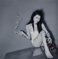 威士忌和烟 (whisky and cigarettes) by he sen