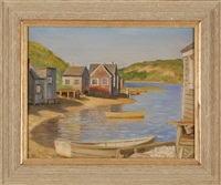 fishing shacks on the eel river. chatham, massachusetts by harold c. dunbar