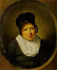 porträt einer frau by adriaen de lelie