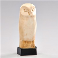 sculpture of owl by cleo hartwig