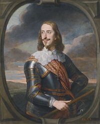 portrait of archduke leopold wilhelm of austria, as a marshall by jan van den hoecke