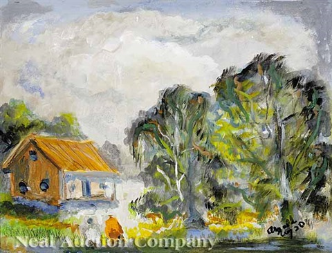 cabin in the bayou by william arnold