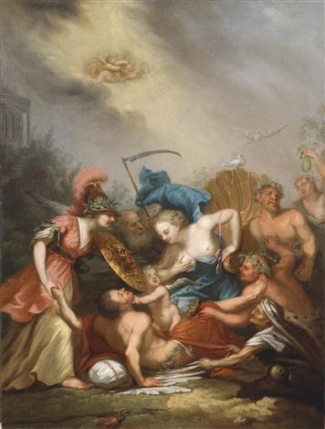 die aufnahme eines antiken helden in den götterhimmel by conrad geiger