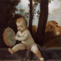kleiner putto mit tambourin by rudolf konopa