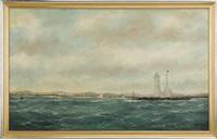 whaleback lighthouse, portsmouth harbor by william pierce stubbs