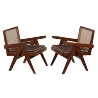 lounge chairs (pair) by pierre jeanneret