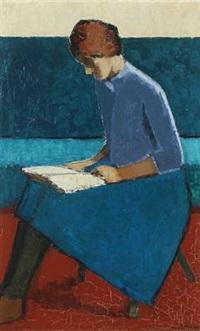 reading woman by tage hansen klüver