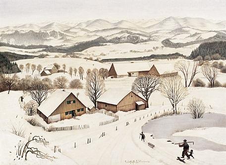 winter im allgäu landschaft bei isny isny ried by fridel dethleffs edelmann