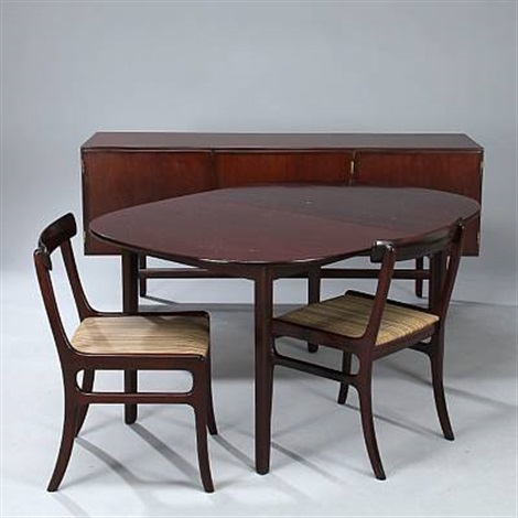 Rungstedlund Dining Table Sideboard And Chairs Set Of 9 By Ole Wanscher On A