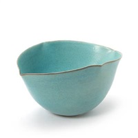 larhe bowl (modelled in oval shape with spikes by beate andersen