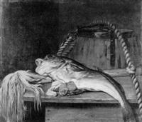 stilleben mit fisch by hendrick ten oever