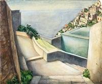 capri iii - treppe mit blick zum meer by peter foerster