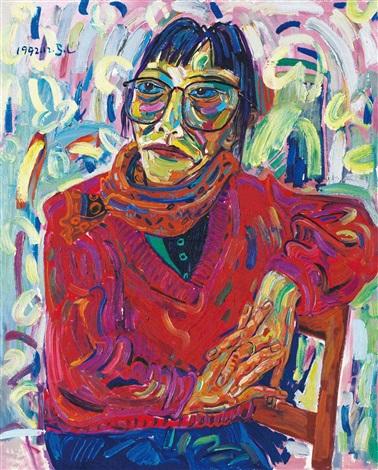 女性肖像 female portrait by shen ling