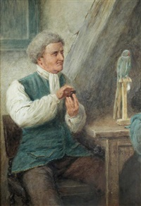 the bird fancier by henry stacy marks