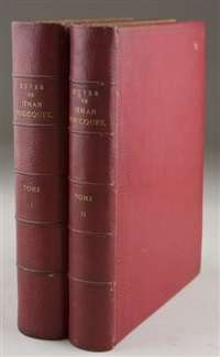 oeuvre de jehan foucquet (bk w/2 vol, text, & prints) by jean fouquet