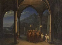 prozession im klosterhof by johann gottfried maass