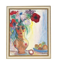 lady floral vase by john melville