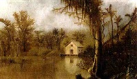 cabin in the bayou by american school-southern (19)