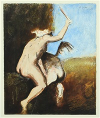 mythological scene by hans henrik lerfeldt