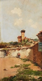 paisaje con personaje by emilio álvarez ayllón (ayón)