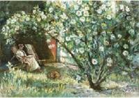 garden with flower (+ saint-michel; 2 works) by yoshihiko wada