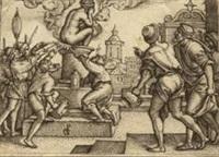 die rache des zauberers virgil, pl.2 (from die geschichte des zauberers virgil) by georg pencz