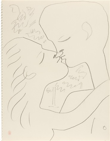 ohne titel le baiser by jean cocteau
