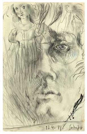 sandro (self-portrait) by horst janssen