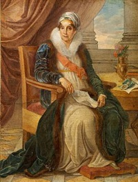 portrait of countess ekaterina p. shuvalova, née saltykova by vincenzo camuccini