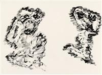 untitled (f 203) by henri michaux