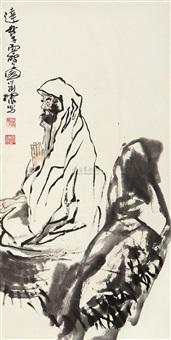 达摩面壁图 (character) by liu huaishan