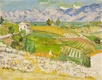 provenzalische landschaft by hans olde