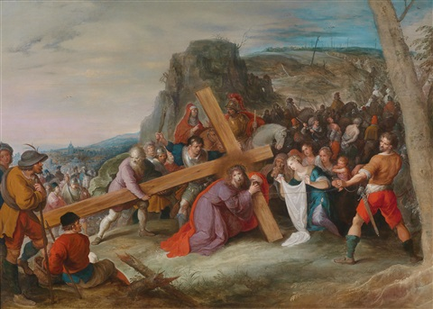 christus das kreuz tragend by frans francken the younger