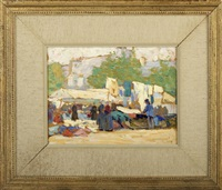 a brittany market by george laurence nelson