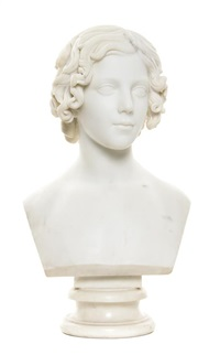 bust of a young girl by lawrence macdonald
