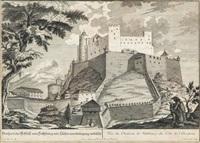 ansicht der festung hohensalzburg (from die saltzburgische kirchen-prospect) by franz anton danreiter