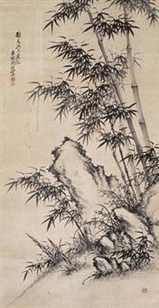 竹石图 (bamboo) by zhou ba