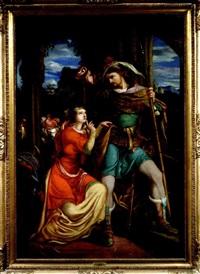 siegfrieds abschied von kriemhild by (jakob) franz j. julius götzenberger